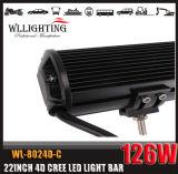 4D l'obiettivo 20inch 126W si raddoppia barra chiara del CREE LED di riga per 4X4 fuori strada