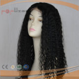 De volledige Pruik van het Haar van de Kleur van Afro van de Hoogste Kwaliteit van het Kant Krullende Zwarte Maagdelijke Lange