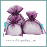 Sacchetto puro di favore di cerimonia nuziale del Organza del sacchetto di favore del Organza