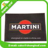 Couvre-tapis en caoutchouc mou de clignotement de barre de PVC du logo DEL d'OEM