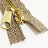 #8 золотистое Brass Zipper для Garment