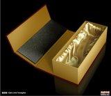 Оптовая продажа коробки подарка бутылки вина черного картона одиночная с вставкой пены