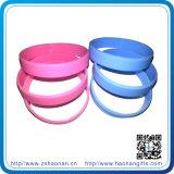 Bracelets en caoutchouc de silicone imprimés par coutume chaude de bracelet de vente en gros de vente