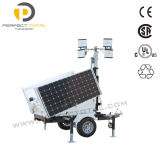 100W diodo emissor de luz Mobile Solar Tower Light