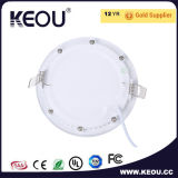 Ce/RoHS Embutido Panel LED Downlight 3W/6W/9W/12W/18W/24W