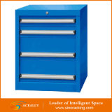 Шкаф инструмента самомоднейшей нержавеющей стали металла голубой дешевый с колесами