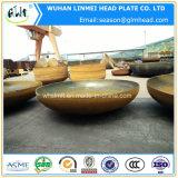 炭素鋼の楕円の皿に盛られたヘッド管および管付属品