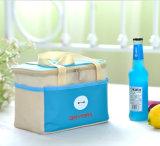 Свет - голубая коробка пикника ручки полиэфира с застежкой -молнией