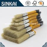 Escova de cabelo natural do porco com pincel de madeira