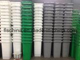 Tipo differente di contenitore di rifiuti di plastica 120L con due rotelle