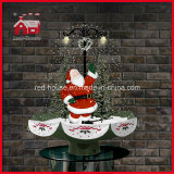 Pvc LED Decoration van de Kerstman Waving Christmas met Snow