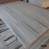 Patrón de mármol veteado de piedra artificial de acrílico Hojas de superficie sólida
