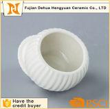 Crisol de cerámica blanco esmaltado del azúcar para la decoración casera