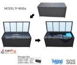 알루미늄 프레임 조정가능한 방수 옥외 등나무 방석 저장 상자