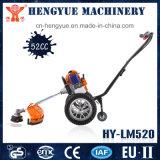 Cortador de cepillo con las ruedas para el corte de la hierba