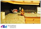 Cor decorativa da bancada do granito do ouro de Giallo para as bancadas do granito da cozinha padrão