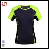 OEM 여자의 폴리에스테 스포츠 운영하는 셔츠