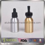 Бутылка с алюминиевыми капельницей и крышкой для эфирного масла