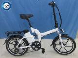 """20 """" 36Vリチウム電池(JSL039DL-1)が付いている電気自転車を折る白"""