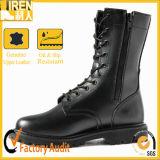 側面のジッパーの黒の軍の戦闘用ブーツ