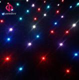 RGB 3 em 1 cortina Starlit de cintilação de pano da estrela do diodo emissor de luz da cor para a mostra do evento