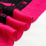 Arbeitsweg-Begleiter Mei roter Voile-Elefant gedruckter Schal