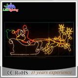 第2美しいサンタクロースのモチーフのクリスマスの装飾的なライト