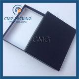Rectángulo de empaquetado de papel negro de las carpetas del rectángulo para el lazo