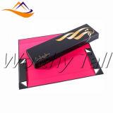 Rectángulo de regalo plegable hecho a mano de encargo de la cartulina de la buena calidad del surtidor de China con la cinta