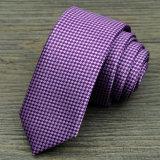 Relation étroite en soie de collet tissée par jacquard parfait fabriqué à la main de 100% (A277)
