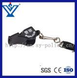 Assobio plástico da polícia do exército da alta qualidade com corda (SYJD-03)