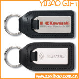 Porte-clés en cuir personnalisé avec métal (YB-LK-08)