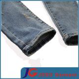 苦しめられたパッチワークのアクセントの錆の洗浄のジーンズスクラッチ人によって洗浄される穴のジーンズ(JC3400)