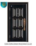 European Style Light Brown Steel Security Door