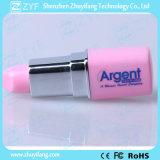 Rosafarbenes Lippenstift-Plastik2gb USB-Laufwerk mit Firmenzeichen (ZYF1809)