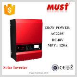 fora de C.C. solar 12V 24V 48V do inversor 1kw 2kw 3kw 4kw 5kw 6kw 8kw 10kw 12kw da fase monofásica da grade para solar