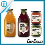 Kundenspezifischer Drucken-Glasflaschen-Fruchtsaft-Aufkleber-Kennsatz