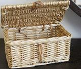 Cover.를 가진 소형 Box Style Decoration Wicker Basket