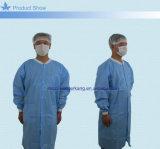 外科使い捨て可能なプラスチックによって塗られる非編まれた実験室のコート