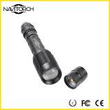 Lanterna elétrica impermeável durável do diodo emissor de luz de T6 Zoomable com a bateria 18650 (NK-366)