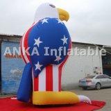 Personaje de dibujos animados inflable vendedor caliente del águila de los productos