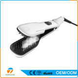 Haar elektrisches Eisen-keramisches Haar-Pinsel-schnelles Dampf-Digital-LCD, das Kamm-Dampf-Haar-Strecker geraderichtet