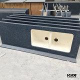 Проектированный Prefab каменный искусственний Countertop острова кухни камня кварца