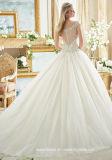 Diamante отбортовывая Bridal платье венчания 2017 Mrl2884 Tulle лифа Bateau мантий шарика