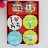 Material de vidro personalizado Custom Epoxy Fridge Magnets for Home Decoration