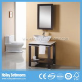 Kompakter festes Holz-Badezimmer-Höhlung-Schrank mit Metall bezahlt (BV163W)