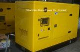 gerador BRITÂNICO Soundproof do diesel do motor de Pakins da taxa à espera de 88kVA 70kVA
