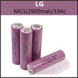확실한 LG Mg1 (2900mAh/10A) E Cig를 위한 18650의 재충전 전지