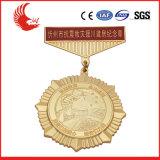 Medalla redonda de encargo del metal al por mayor de la manera con la cinta