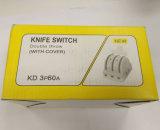Commutateur de couteau électrique de double porcelaine du maneton 3p60A